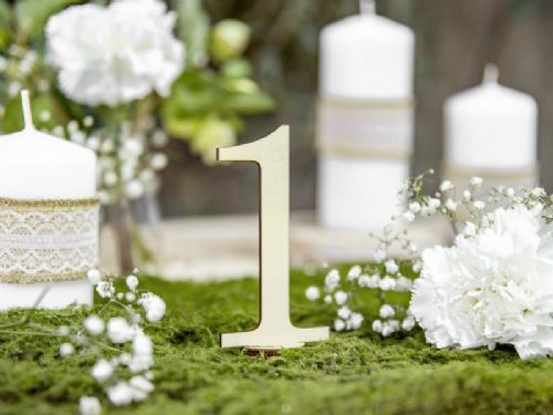 Freestanding Wooden Table Numbers 1-10